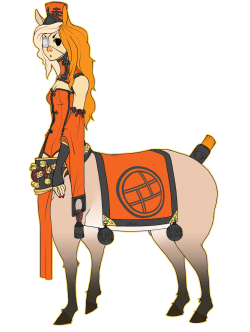 A new oc ´v ` I never had a proper centaur oc before so I felt like drawing one.She work for Scarlet with delivering's and such.she needs a name asdksadk any suggestions?
