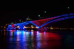 Peace Bridge to glow Buffalo Bisons and Blue Jays colours for Bisons Opening Week!