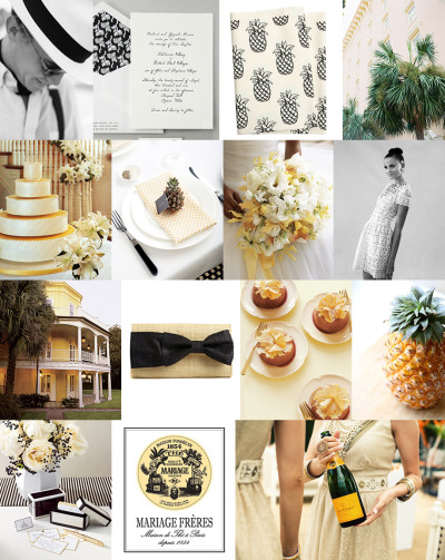 Preppy Pineapple Idea Board (Source)