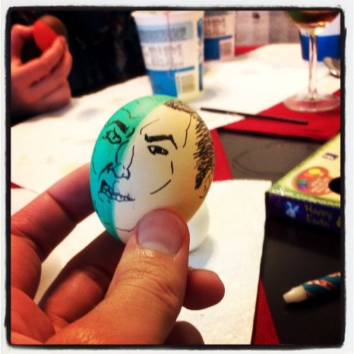 Two Face easter egg. #easter #batman #twoface