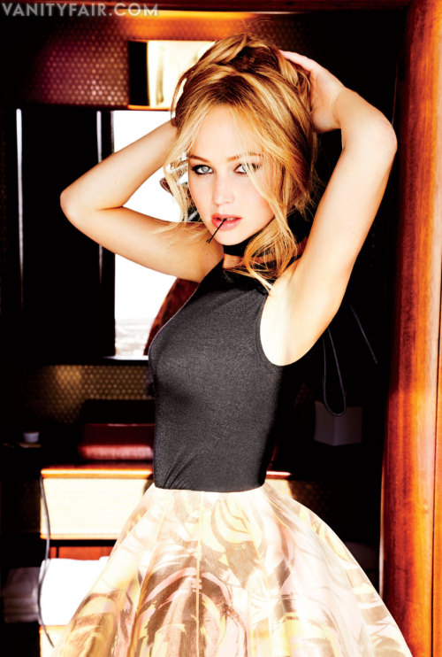 OBSESSED vanityfair:  Girl, Uninterruptible | Jennifer Lawrence  The Golden Globe winner and Oscar nominee talks to V.F. about her love of Meryl Streep and her intense anxiety when it comes to lying (side effects include shaking legs and spontaneously hiding meatballs).  Photograph by Ellen von Unwerth