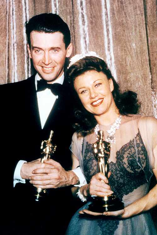 James Stewart & Ginger Rogers at the 13th Annual Academy Awards, 1941.