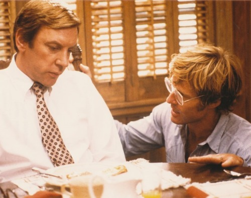 Donald Sutherland and director Robert Redford, Ordinary People (1980)