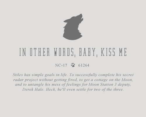 In Other Words, Baby, Kiss Me