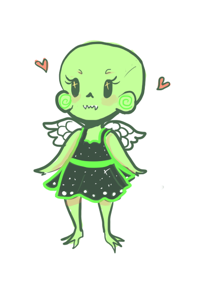 treescab:  I was sad so I drew a tiny calliope