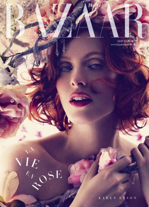 bohemea:  Karen Elson - Bazaar UK, May 2013
