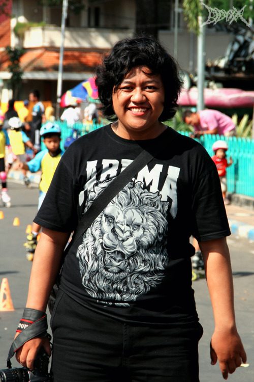 My friend @bimasukibim at Car Free Day Ijen