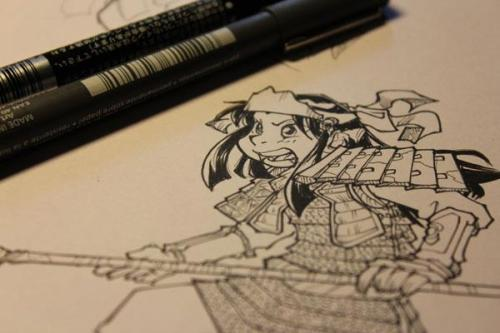 Started kind of working on another personal side project, based on feudal Japan characters…