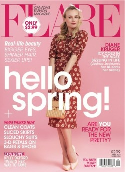 my girl diane on the cover of this month's flare.