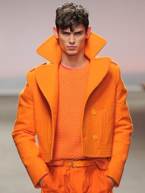 thisideaofsurrender:  Topman Design A/W 2013  Watching the Topman fashion shows for the season ahead is essentially just being subjected to a terrifying and demoralising  premonition of the abject hideousness that will be dominating the British streets in the all-too-near future…