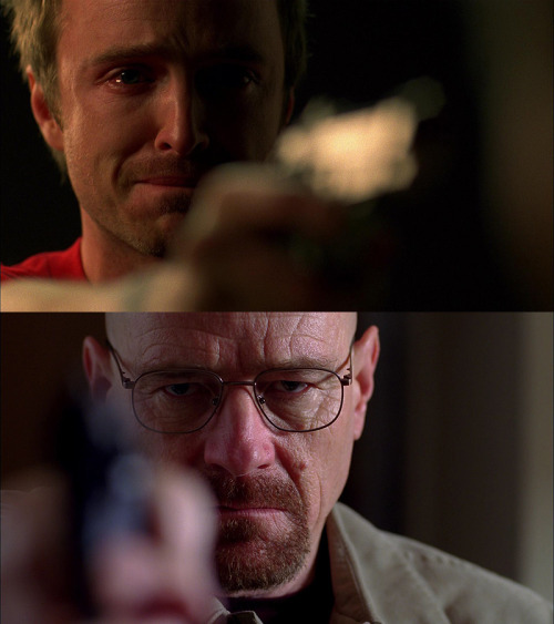 warwhatwar:  plasticsoulman:  The only difference between Walt & Jesse: conscience  WHAT THE HELL
