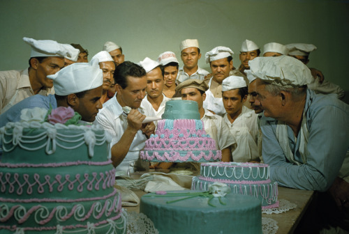 natgeofound:  Former soldiers study cake decorating at a vocational school in Puerto Rico, April 1951.Photograph by Justin Locke, National Geographic