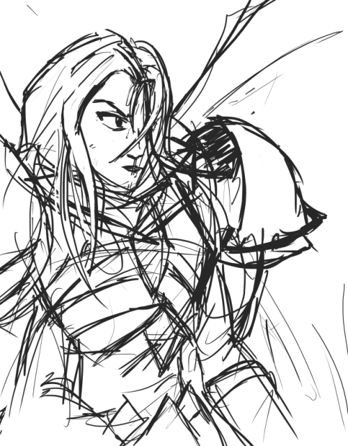 "Tried sketchin a Kayle. (Psst, add me on League: ""Zax and Relax"")"