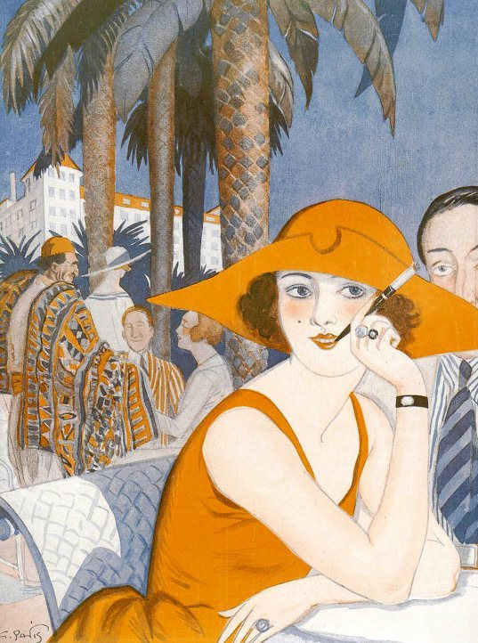 sydneyflapper:  G Parvis depicts life at Cannes for this 1922 issue of La Vie Parsienne