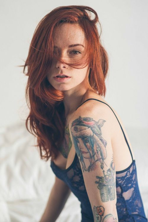 My standard rule of reblogging red-haired girls with freckles comes into play yet again.  fakeredheads:  Hattie Watson via NTNphoto