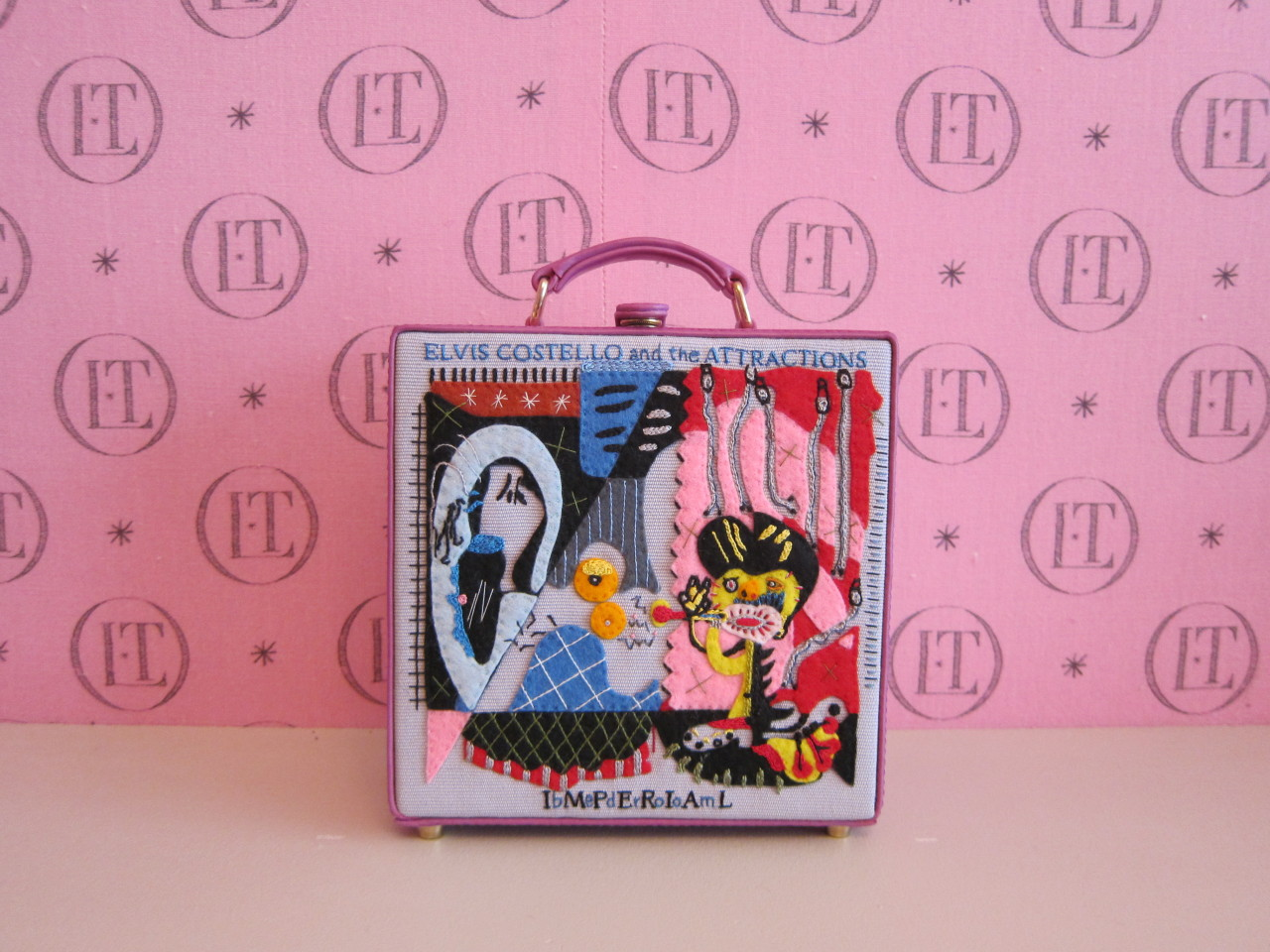 "Limited edition Imperial Bedrooms 7"" clutch by Olympia Le-Tan. Available in May exclusively at olympialetan.com."