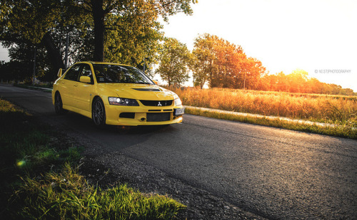Yellow Evo. on Flickr.Via Flickr: Mitsubishi Lancer Evolution IX © All rights reserved.Like me on Facebook