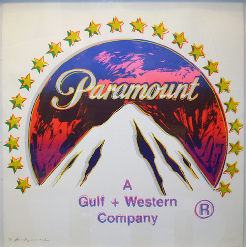Paramount Andy Warhol wittily reminds us that the Elkhorn Mountains of the famous Blue Mountain range are best recognized nowadays as the logo for Paramount, rather than for their natural topography.  Place your bid on Warhol's Paramount on artnet Auctions.