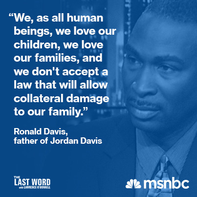 Tonight, the parents of Jordan Davis will joinThe Last Word With Lawrence O'Donnell.Tune in at 10pmET.