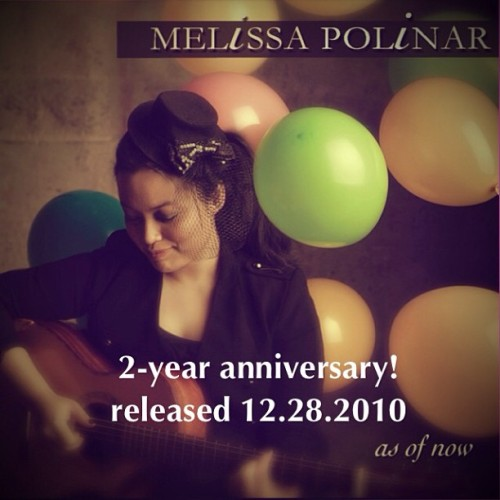 2 years ago today. 😊💿🎶 #asofnowEP #melissapolinar