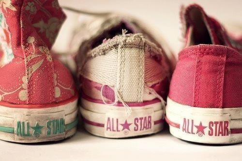 pinkcaliforniadreams:  Converse on We Heart It - http://weheartit.com/entry/49798865/via/Clariis  I have the ones on the very left ♥ (uf 1 sz too small :/)