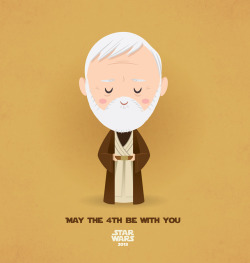 tiefighters:  May The 4th Be With You - Obi-wan Kenobi Created by Jerrod Maruyama  Happy Star Wars day!