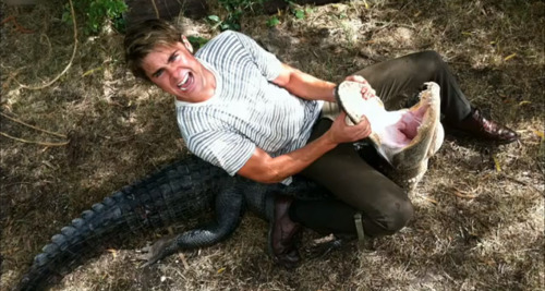 the-absolute-best-posts:  buttrisekingdom: zach efron wrestling an alligator   This post has been featured on a 1000notes.com blog.