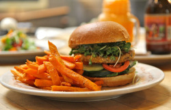 The Farm Veggie Burger by averagebetty on Flickr.