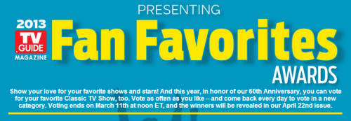 HEY YOU GUYS! IT'S TIME FOR FAN FAVORITES AWARDS AGAIN! Last year, the winners got featured in TV Guide and got a few pages worth of interviews/BTS/fun facts/etc.  WELL, WE WANT THIS FOR POI THIS YEAR RIGHT!? So people. Vote, vote, VOTE!! Show them what we can do! PS. Yes, you probably do need a FB account to vote. Click the picture to go to the voting page!