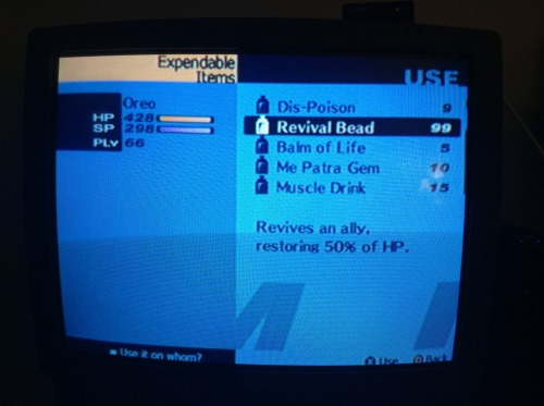 shrouded-persona:  I dunno guys, you think I bought enough revival beads?  not for the sleeping table
