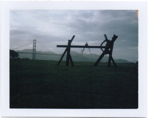 polaroidsf:  One of eight sculptures by Mark di Suvero presented by SFMOMA, on display for a year at Crissy Field.