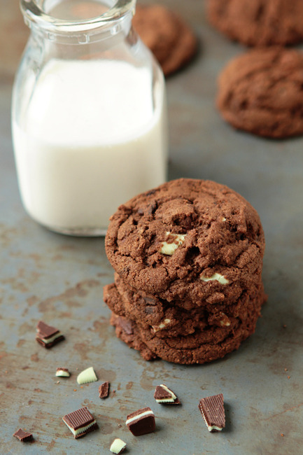gastrogirl:  chocolate cookies with andes and thin mints.