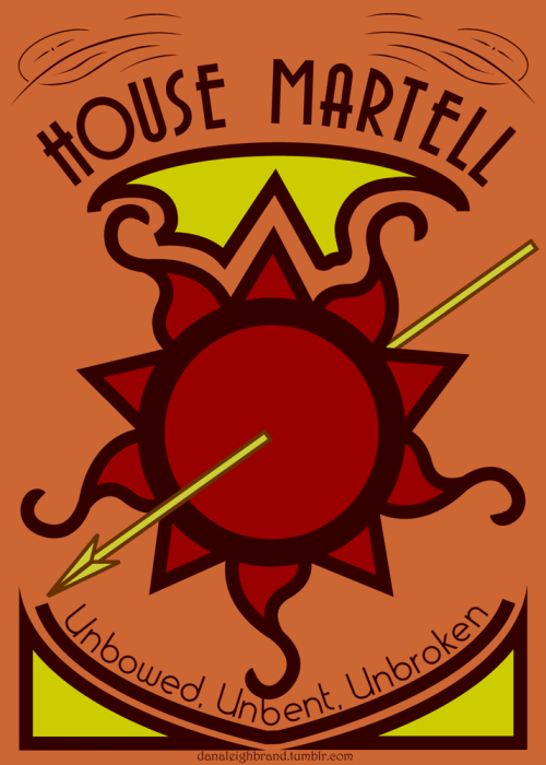 danaleighbrand:  Art Nouveau A Song of Ice and Fire Sigils: House Martell