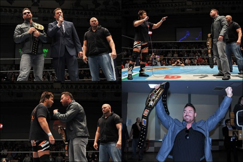 "[NJPW News Update] The NWA has invaded NJPW. The current reigning NWA Heavyweight Champion ""Iron Man"" Rob Conway, the current President of the NWA Bruce Tharpe, and a surprise third wrestler in Jax Dane appeared at today's show to make their presence known.The group was immediately met with boo's from the NJPW fans. Tharpe introduced himself for the firs time publicly in the NJPW ring and stated that he brought two wrestlers, and that they are the world's best wrestlers. He even went as far as to ask the fans to rise to their feet to honor these two.Rob Conway has come to put his belt on the line against the best that New Japan has to offer and he seems very confident that he will indeed walk away as the champion after the ""INVASION ATTACK"" event on April 7th.Kojima will be challenging Conway at the show and made his way out to confront the champion from the USA. Kojima understands that these ""invaders"" do not speak Japanese, so he put his words in English that Conway's championship will be around his waist, and that they all will have to go home crying.Conway appears to have nothing but confidence on his side, while Kojima aims to not let this invader just come in and run things.*Kojima was met with the press backstage.Kojima stated that he is not afraid of anything. He is not afraid of Conway, and that he will break Conway. That he will get championship belt and it will fit good around his waist.Full results from the April 5th show.http://www.puroresuspirit.com/2013/04/05/results-for-april-5-2013/NJPW will be providing the upcoming INVASION ATTACK event on April 7th on Ustream iPPV for $25. http://www.ustream.tv/njpwThe event will feature 9 matches with a headlining triple main event with a total of 5 title matches scheduled throughout the show."