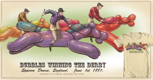 Bubbles Winning the Derby by whorled traveler is up for scoring at Threadless!