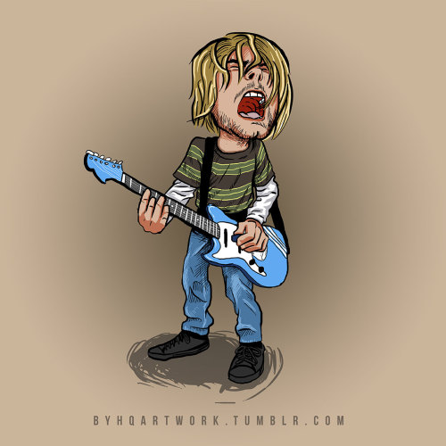 Smells Like Teen Spirit - Kurt Cobain (PSD Flatten file)