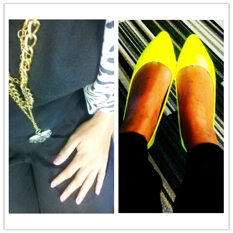 Neon pumps and print #LoveColour #WorkVibes #Thirstday