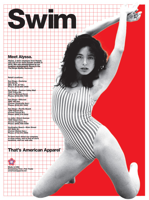 americanapparel:  Swim. June 2012.