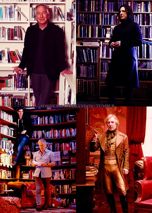 crazyweasley:  Alan and books MY TWO FAVORITE THINGS!