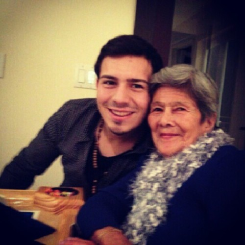 With mamita, Love her! #greatgrandma #december24 #2012 #love #cristmas #family