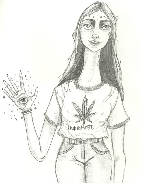 indighost:  modern day hippie  my art