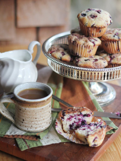 Blueberry Struesel Muffins Ingredients:2 cups all purpose flour1 1/2 teaspoons baking powder1/2 teaspoon salt1/2 cup unsalted butter, softened1 cup sugar2 large eggs2 teaspoons vanilla extract1/2 cup buttermilk2 cups blueberriesStreusel Topping:1/4 cup white sugar 2 1/2 tablespoons all purpose flour2 tbsp butter, softened3/4 teaspoon cinnamon Instructions Preheat the oven to 350º and line your muffin pan with paper muffin liners.First, prepare the streusel topping in a small bowl by mixing the sugar, flour, butter, and cinnamon with a fork. Get it fully incorporated so that it has the texture of wet, crumbly sand. Set this aside.In a small bowl, whisk together your flour, baking powder, and salt.  Then, in a large bowl, cream the butter and sugar until light and fluffy. Add eggs, vanilla and milk. Add flour mixture and stir until just combined and gently fold in blueberries.Pour the batter evenly into 12 muffin cups, sprinkle them with streusel topping, and stick it in the oven! Bake at 350º for 20 to 25 min, until a toothpick inserted into the center comes out clean.