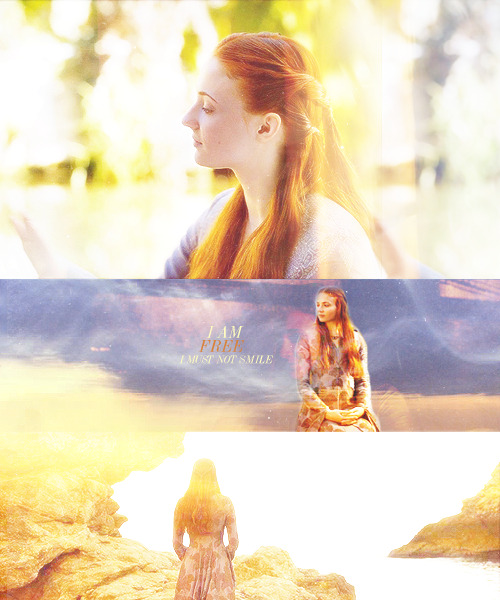 soulseternalmate:  …Sansa felt curiously light-headed. I am free. She could feel eyes upon her. I must not smile, she reminded herself. The queen had warned her; no matter what she felt inside, the face she showed the world must look distraught… – A Clash of Kings