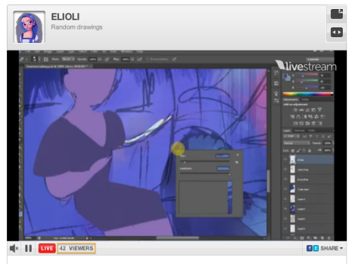 I was watching a livestream of an illustration by Elena of elioli art and the number of viewers was The Answer for a little while.