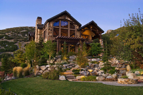 Seven Springs home, Salt Lake City. Markay Johnson Construction.