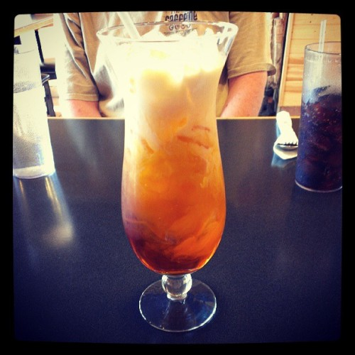 thai iced #tea. At Mekong cafe