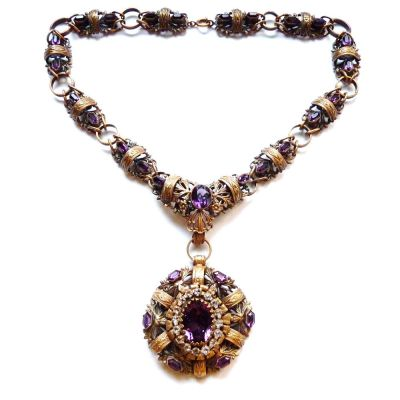 This necklace is so beautiful and ornate, it's so hard to imagine not wearing it! By Joseff of Hollywood.