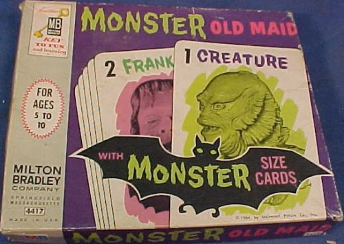 vintagetoyarchive:  MILTON BRADLEY: 1964 Monster Old Maid Card Game  NEED