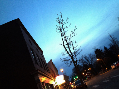 Dusk on East College Street. #Oberlin on Flickr.