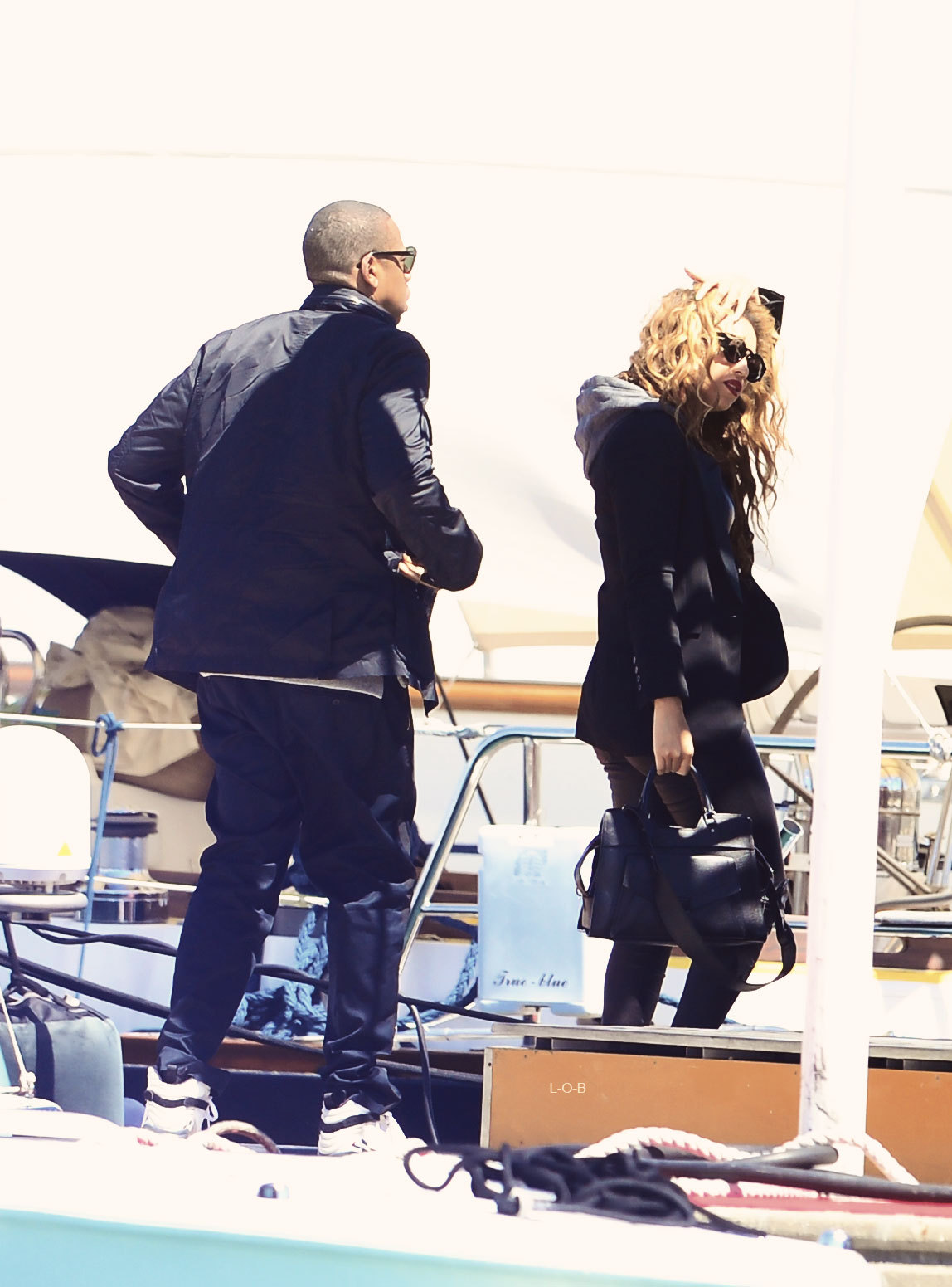 everythingyntk:  Beyonce + Jay-Z in the South of France on Monday.